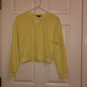 Neon yellow forever 21 long sleeve size s